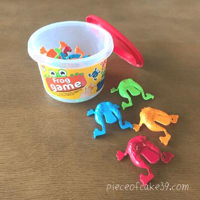 3歳の知育玩具「カエルさんジャンプ」