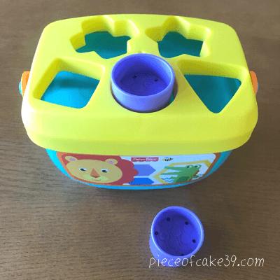 1歳の知育玩具「フィッシャープライス型はめパズル」
